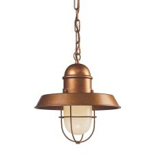 Farmhouse 1 Light Pendant In Bellwether Copper