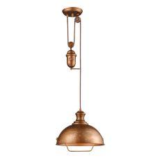Farmhouse 1 Light Adjustable Pendant In Bellwether Copper