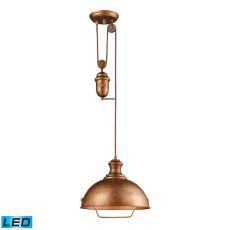 Farmhouse 1 Light Adjustable Led Pendant In Bellwether Copper
