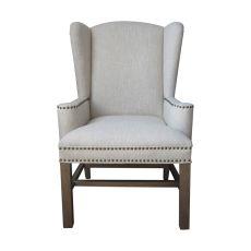 Allcott Wing Back Chair, Natural