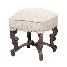 Scrolled Stool, Gray