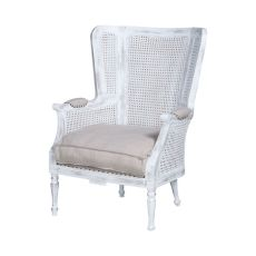 Chelsea Wing Back Chair, Front Porch White
