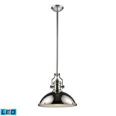 Chadwick 1 Light Led Pendant In Polished Nickel