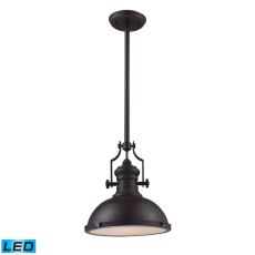 Chadwick 1 Light Led Pendant In Oiled Bronze