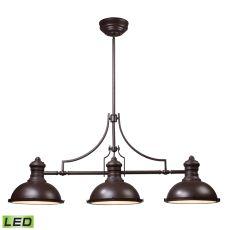 Chadwick 3 Light Led Billiard In Oiled Bronze
