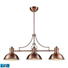 Chadwick 3 Light Led Billiard In Antique Copper