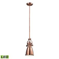 Chadwick 1 Light Led Pendant In Antique Copper