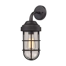 Seaport 1 Light Wall Sconce In Oil Rubbed Bronze And Clear Glass