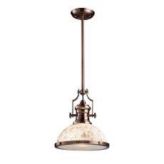 Chadwick 1 Light Pendant Antique Copper And Cappa Shells