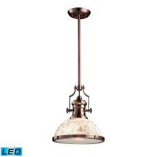 Chadwick 1 Light Led Pendant Antique Copper And Cappa Shells