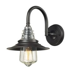 Insulator Glass 1 Light Wall Sconce In Oiled Bronze
