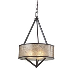 Mica 3 Light Pendant In Oil Rubbed Bronze And Tan Mica