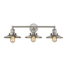 English Pub 3 Light Vanity In Satin Nickel