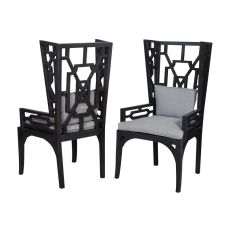 Manor Wing Chairs - Set Of 2, Gray