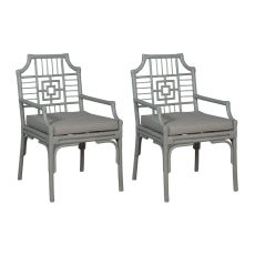 Manor Rattan Arm Chair, Gray