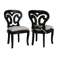 Artifacts Side Chairs In Vintage Noir - Set Of 2, Black