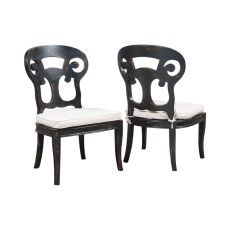 Verona Club Side Chair, Black