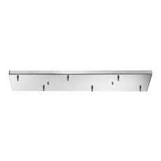 Illuminaire Accessories 6 Light Rectangular Pan In Polished Chrome