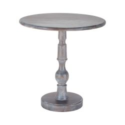 Acanthus Post Side Table In Waterfront Grey Stain With White Wash