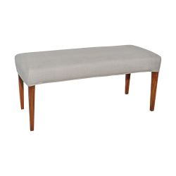 Couture Covers Double Bench Cover - Light Grey