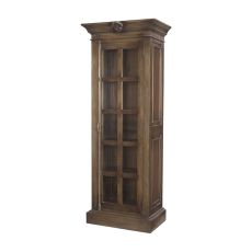 French Rococo Closed Single Cabinet In Woodlands Stain