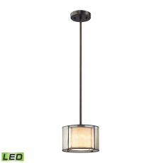 Mirage 1 Light Led Pendant In Tiffany Bronze