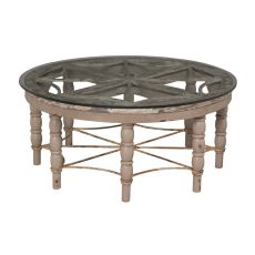 Artifacts Round Cocktail Table, Taupe