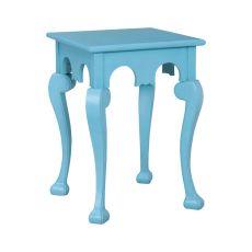 Manor Cabriole Side Table In Manor Aqua, Manor Aqua