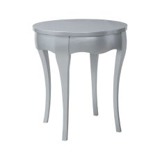 Manor Accent Table In Antiqued Silver Leaf, Antiqued Silver Leaf