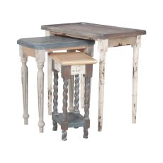Artifacts Nesting Tables In Multi Stain Collage Finish, Multicolor