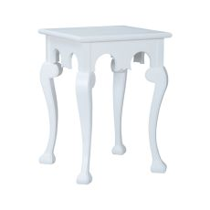 Manor Cabriole Side Table In Grain De Bois Blanc