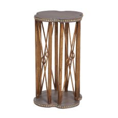 Bedford Accent Table, Gray, Gold