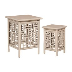 Thyme Garden Nesting Tables, Gray