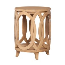 Interlocking Circles Accent Table, Blonde