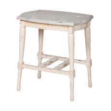 Gustavian Accent Table, Cream