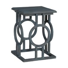 Circle Cutout Accent Table, Gray
