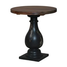 Woodlands Pedestal Side Table, Black