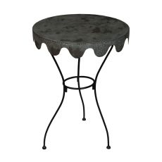 Metal Wine Country Side Table, Black