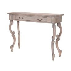 Carved Scroll Entry Table, Weathered Tuscan