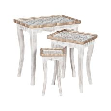 Saber Nesting Tables In Front Porch White, Front Porch White