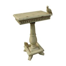 Socle Table With Birds, Cream