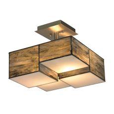 Cubist 2 Light Semi Flush In Brushed Nickel