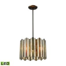 Lineage 3 Light Led Chandelier In Oil Rubbed Bronze