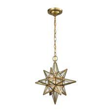 Beamer 1 Light Pendant In Brushed Brass