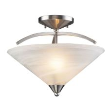 Elysburg 2 Light Semi Flush In Satin Nickel