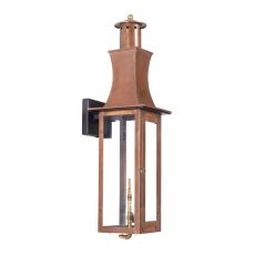 Maryville Outdoor Gas Wall Lantern In Aged Copper