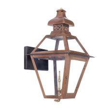 Bayou Outdoor Gas Wall Lantern Aged Copper