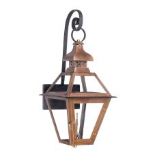 Bayou Outdoor Gas Wall Lantern In Aged Copper