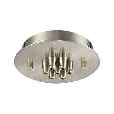Illuminaire Accessories 7 Light Small Round Canopy In Satin Nickel