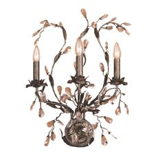 Circeo 3 Light Wall Sconce In Deep Rust